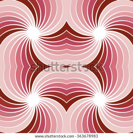 abstract seamless background with twisted rays - stock vector