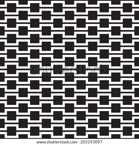 Abstract Seamless Black and White Geometric Texture  - stock vector