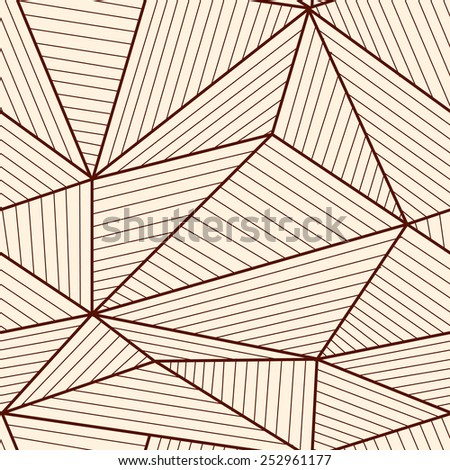Abstract seamless brown and white geometric pattern. - stock vector