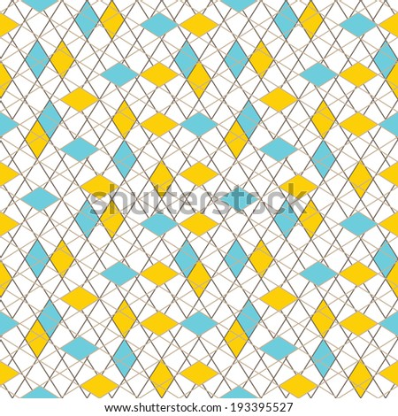 abstract seamless colorful lined mosaic rhombus wallpaper background pattern design - stock vector