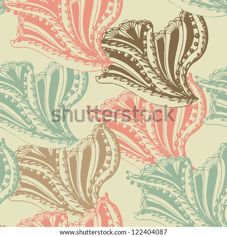 Abstract seamless damask pattern for background. Textile pattern - stock vector