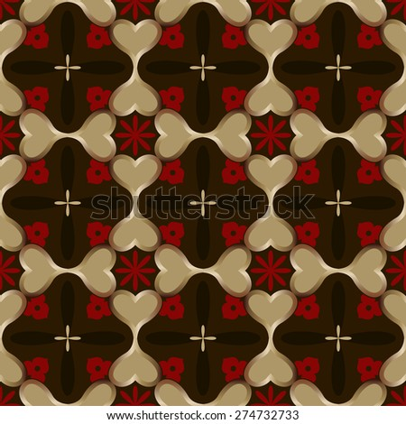 Abstract seamless dark vector wallpaper pattern. - stock vector