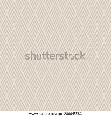 Abstract Seamless Decorative Geometric Chevron Gold & Beige Pattern - stock vector