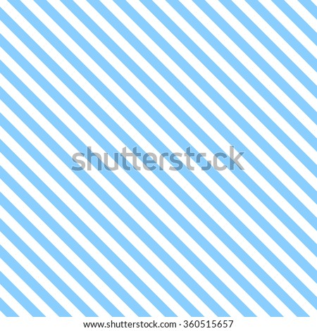 Abstract Seamless diagonal striped pattern with blue and white stripes. Vector illustration - stock vector