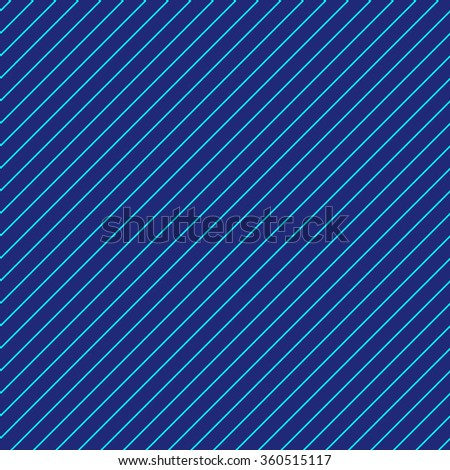 Abstract Seamless diagonal striped pattern with navy blue and turquoise stripes. Vector illustration - stock vector