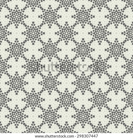 abstract seamless floral spotty geometric pattern - stock vector