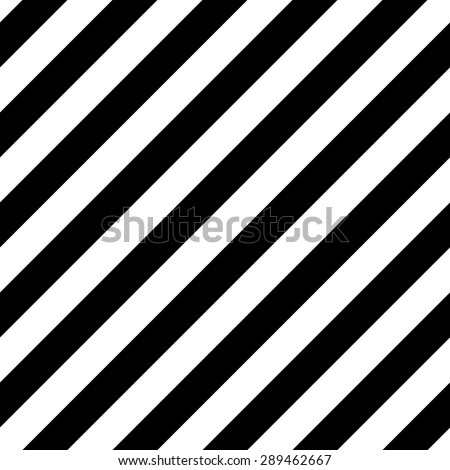 Abstract Seamless geometric diagonal striped pattern with black and white stripes. Vector illustration - stock vector