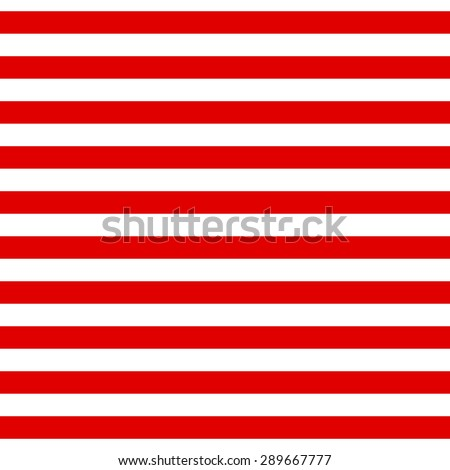 Abstract Seamless geometric Horizontal striped pattern with red and white stripes. Vector illustration - stock vector