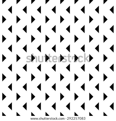Abstract seamless geometric monochrome pattern. Vector floor texture background. - stock vector