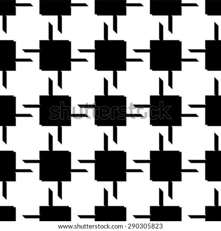 Abstract seamless geometric monochrome pattern. Vector texture background. - stock vector