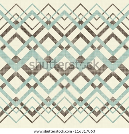 abstract seamless ornament in texture and retro colors - stock vector