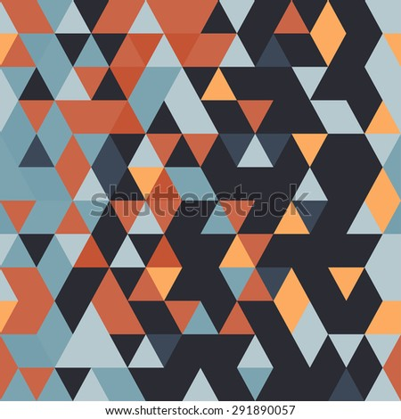 Abstract seamless pattern. Geometric backdrop. Polygonal crystal texture. Triangular texture. - stock vector