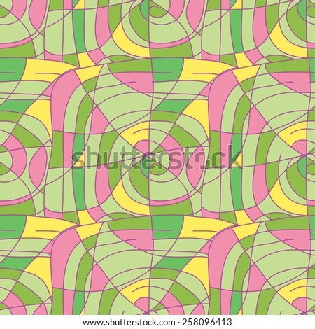Abstract seamless pattern. Geometric vector illustration. Doodling design. Cute background. - stock vector