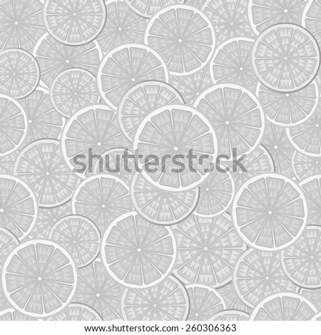 Abstract seamless pattern in shades of gray.Image of orange in the context of. - stock vector