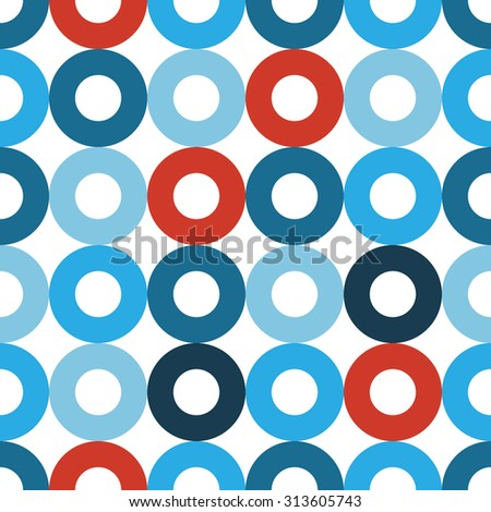 Abstract seamless pattern made from circles - stock vector