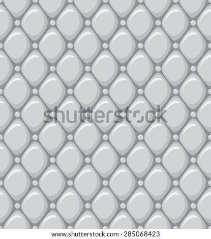 Abstract Seamless Pattern of a Leather Upholstery - stock vector