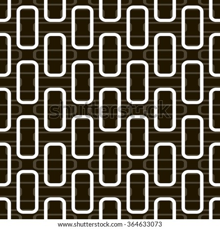 Abstract seamless pattern of rectangles with rounded corners. High contrast frames on the background of low contrast ones. Black, white, gray colors. Vector illustration for stylish modern design - stock vector