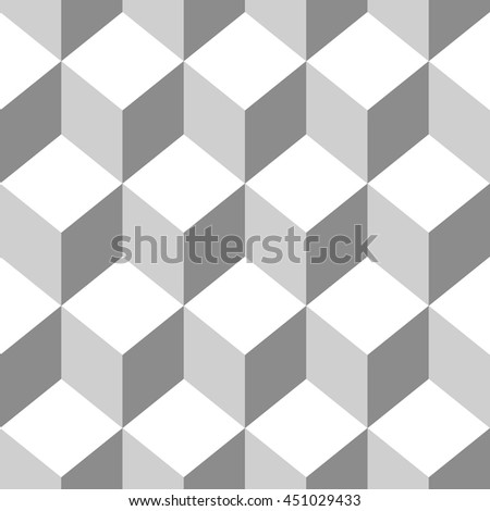 Abstract Seamless pattern vector cube. Vector Illustration - stock vector
