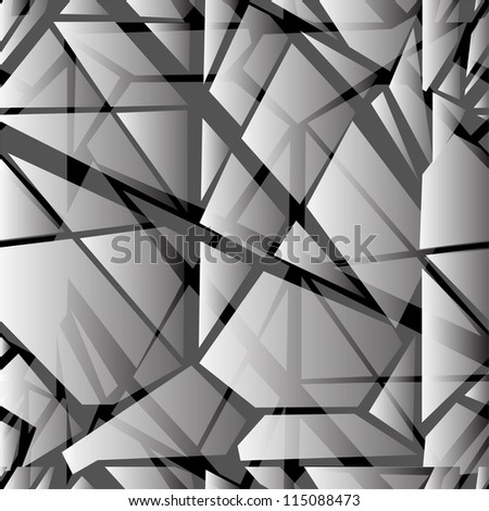 abstract seamless pattern with broken glass imitation for your design - stock vector