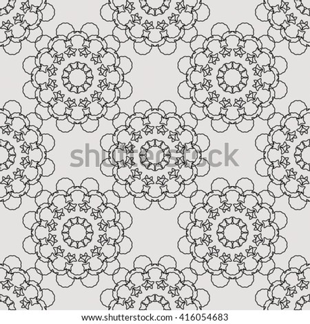 Abstract seamless pattern with floral ornaments. Seamless background. - stock vector