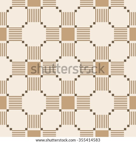 Abstract seamless pattern with geometric ornaments - stock vector