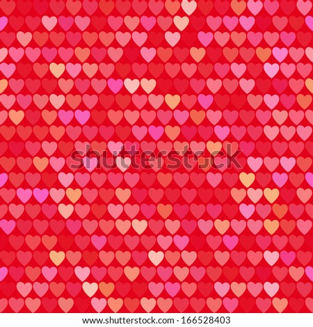 abstract seamless pattern with hearts - stock vector