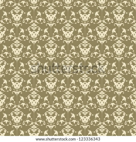 Abstract seamless pattern with ornament - stock vector