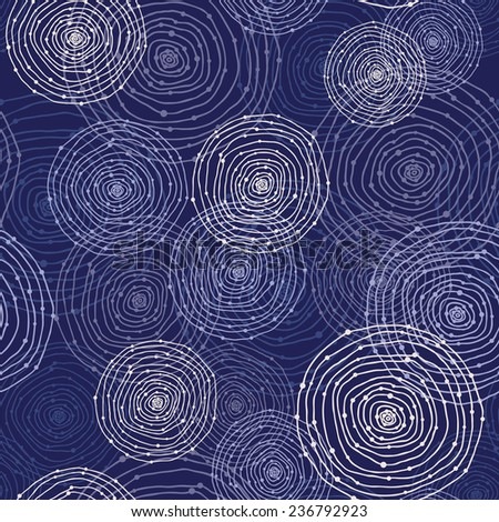 abstract seamless pattern with round shapes - stock vector