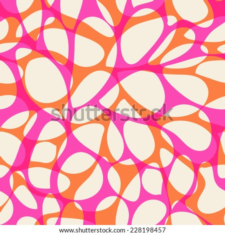 abstract seamless pink and orange pattern - stock vector