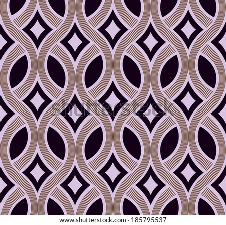 Abstract seamless plaiting lines vector wallpaper. - stock vector
