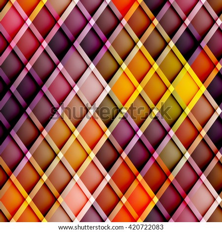 Abstract seamless rhombus pattern with a relief effect. Argyle rhombus pattern. - stock vector