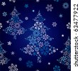 Abstract seamless snowflake tree. Illustration vector. - stock vector
