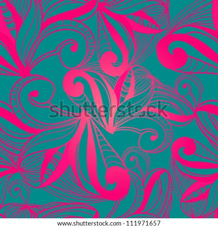 Abstract seamless vector background with abstract pattern - stock vector