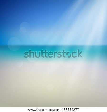 Abstract seashore illustration with defocused lights - eps10 - stock vector