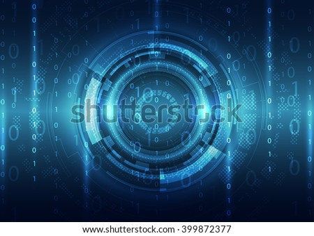 Abstract security digital technology background. Illustration Vector - stock vector