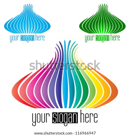 abstract shape, business icon - stock vector