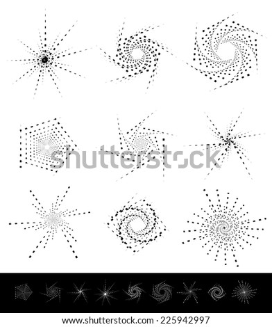 Abstract shape set. Different geometric forms - stock vector