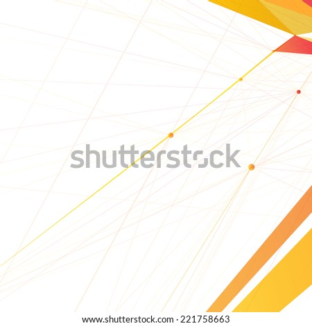 Abstract shapes background | EPS10 Line Art - stock vector