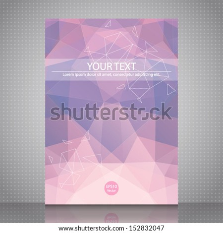 Abstract shapes Flyer Template. Vector design concept. Abstract pink background for design. EPS10. - stock vector
