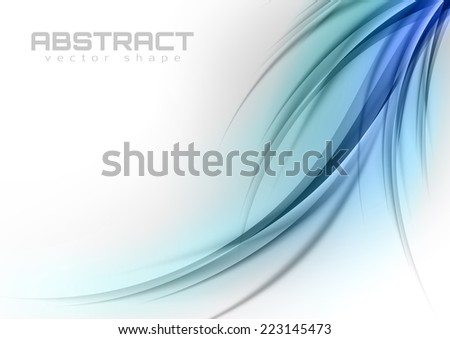 Abstract shapes in the blue colors. Vector design elements.  - stock vector