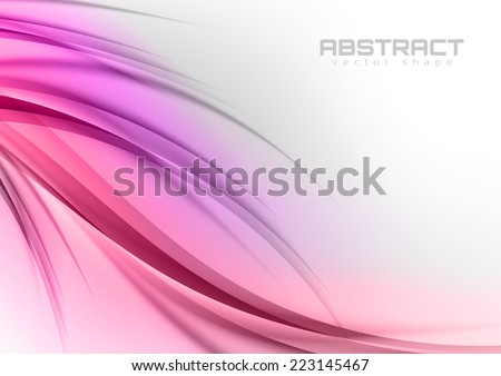 Abstract shapes in the pink colors. Vector design elements.  - stock vector