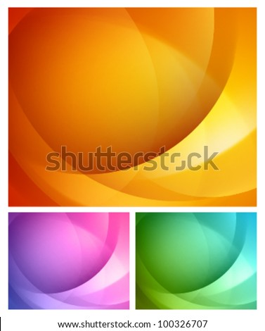 Abstract shapes swirl vector backgrounds set. Eps 10. - stock vector