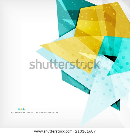 Abstract sharp angles background - business brochure layout - stock vector