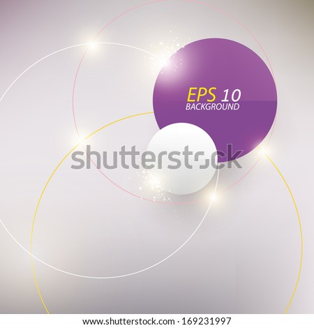 Abstract shine circle background with lite effect. - stock vector