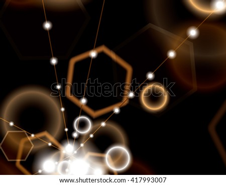 Abstract Shiny Background. Brown Sparkly Illustration. - stock vector