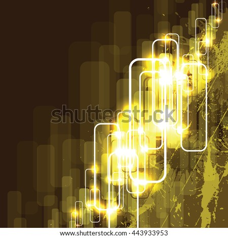 Abstract Shiny Background. Golden Sparkly Illustration. - stock vector
