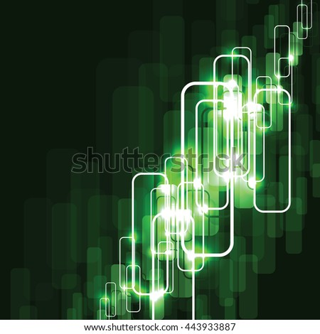 Abstract Shiny Background. Green Sparkly Illustration. - stock vector