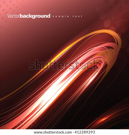 Abstract Shiny Background. Red Illustration. - stock vector
