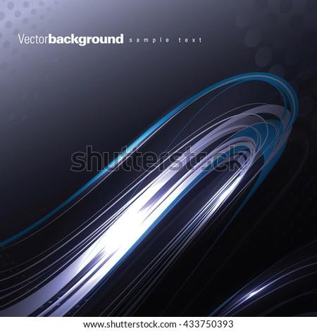Abstract Shiny Background. Silver Wavy Illustration. - stock vector