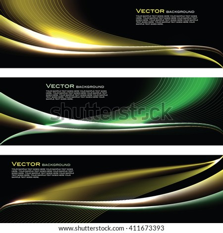 Abstract Shiny Banners. - stock vector